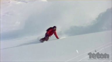 Female Snowboarder Victoria Jealouse Rides Whistler Back Country