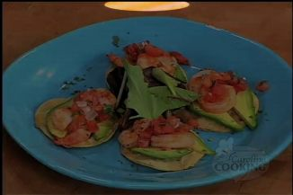 Fiery Shrimp Tostadas